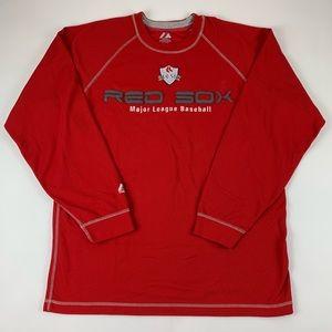 Boston Red Sox MLB Majestic Waffle Knit Shirt